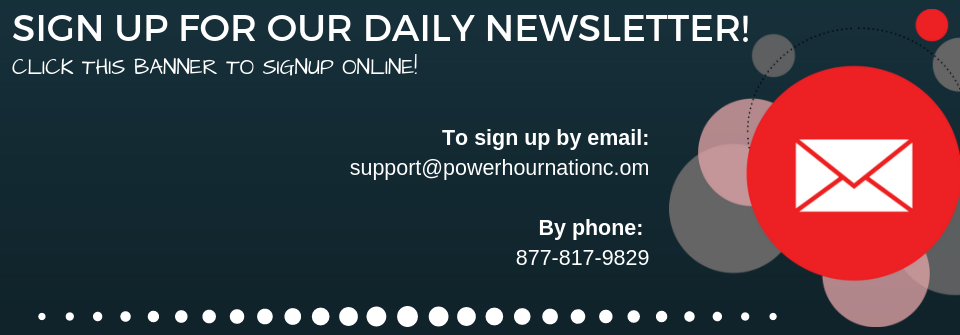 Sign up for The Power Hour Email Blast!